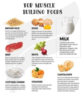 food for building muscle