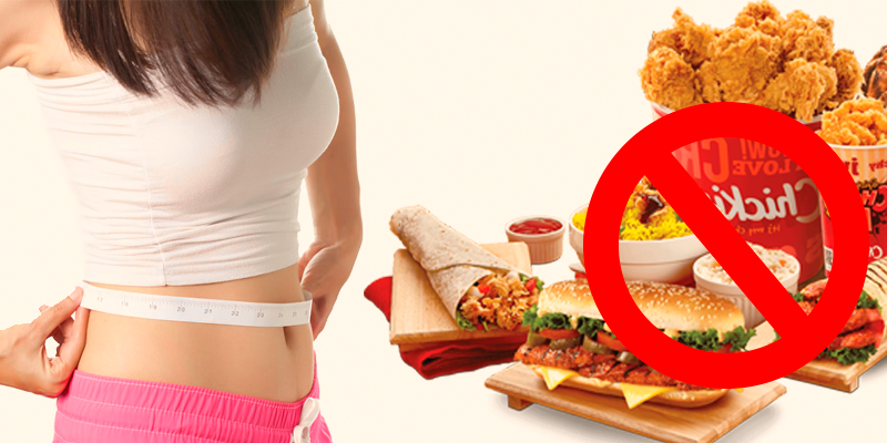 SAY NO TO JUNK FOODS , Stay Fit With Easy Slim Tea